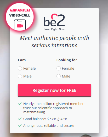 Be2 dating Sign Up Process