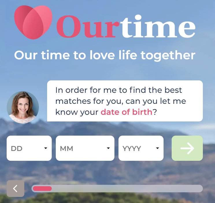 OurTime Sign – up process