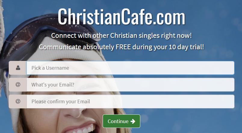 Christian Cafe Sign Up Process