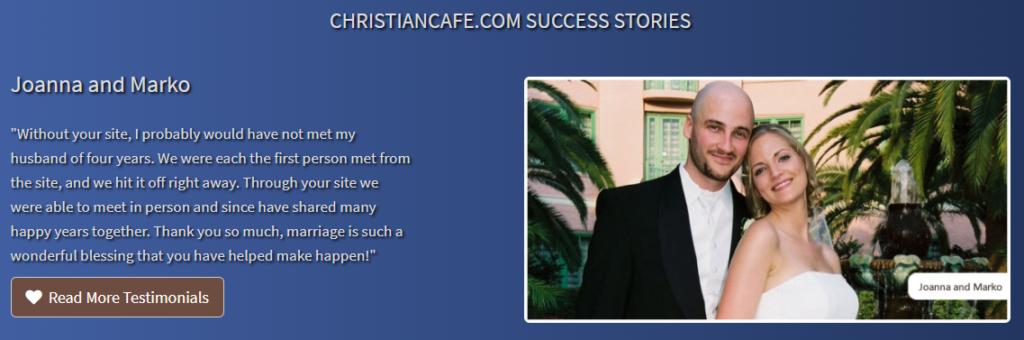 Christian Cafe testimonials