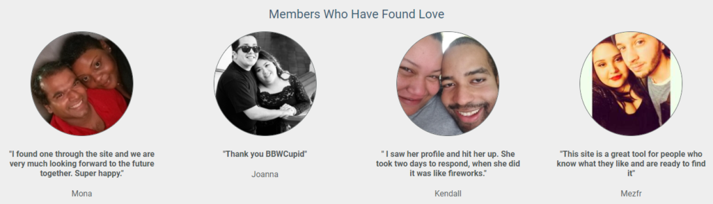 BBWCupid love stories