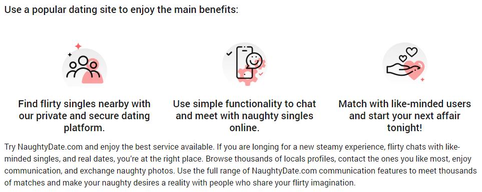NaughtyDate benefits