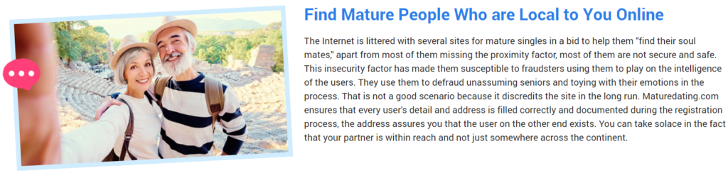 Mature Dating Reliability and safety