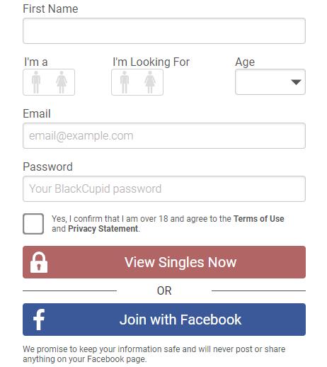 BlackCupid Signup Process